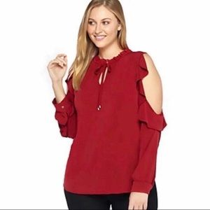 The Limited Ruffle Top Retail $78